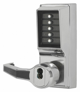 PUSH BUTTON LOCKSET MORTISE LEFT LEVER by Kaba