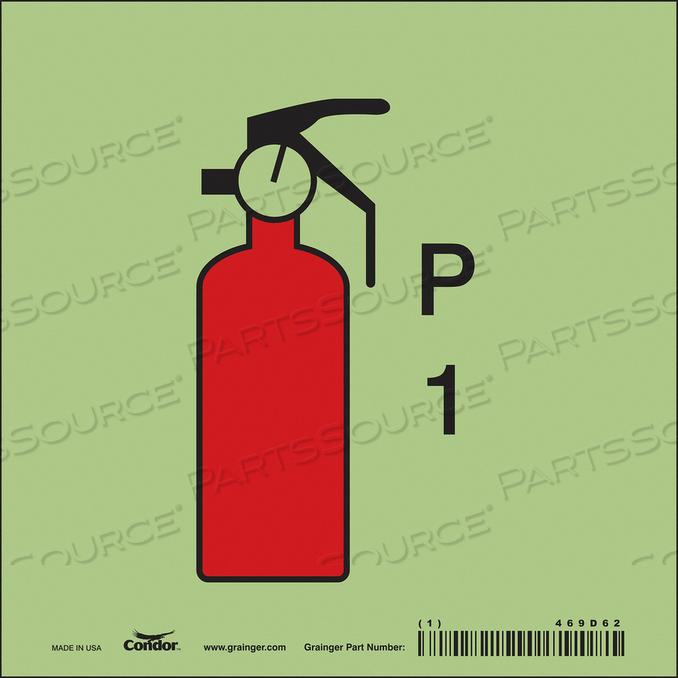 SAFETY SIGN 6 W 6 H 0.010 THICKNESS by Condor