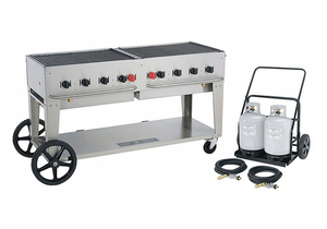 GAS GRILL W/CART LP BTUH 129000 by Crown Verity