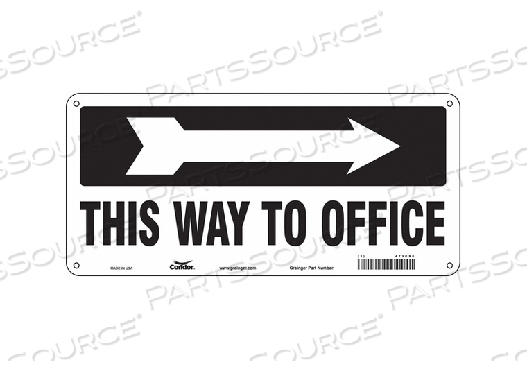 SAFETY SIGN 14 W 6-1/2 H 0.055 THICK by Condor