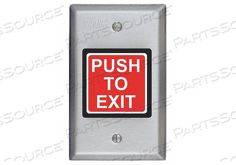 PUSH TO EXIT BUTTON 2-7/8 INW DPDT RELAY by SDC