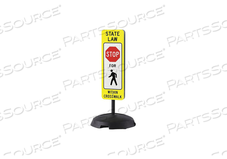 SIGN STAND BASE 23 W 48 H PLASTIC by Condor