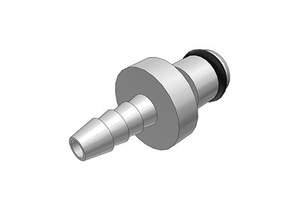 NON-VALVED IN-LINE COUPLING INSERT, 1/8 IN DIA, BRASS, CHROME PLATED, HOSE BARB, 250 PSI VACUUM, -40 TO 180 DEG F, FREE FLOATING MOUNT by Colder Products Company