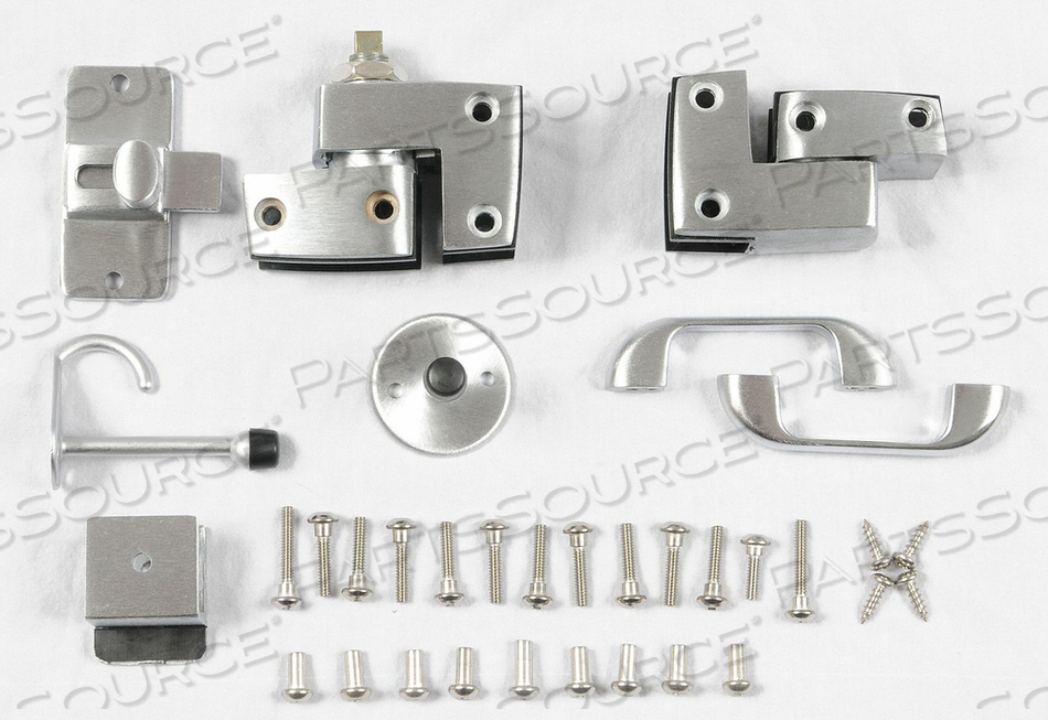 SLIDE LATCH DOOR HDW OUTSWING BRUSHED by Global Partitions