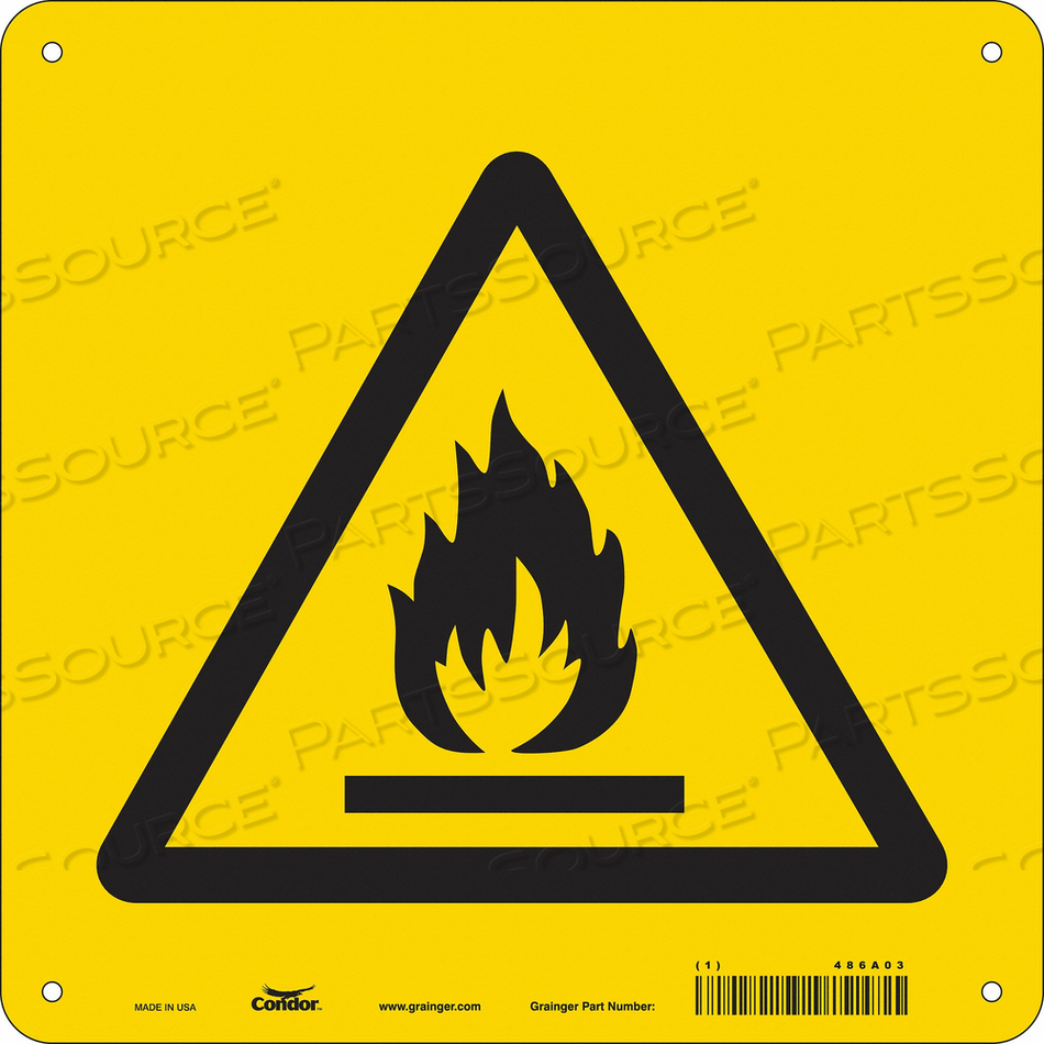 CHEMICAL SIGN 10 W 10 H 0.055 THICKNESS by Condor