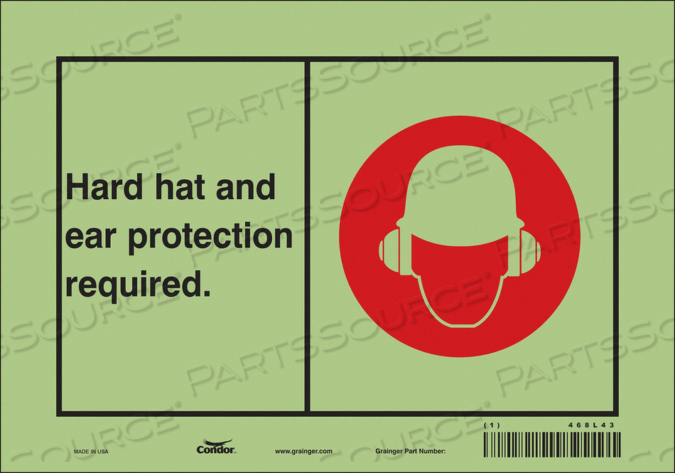SAFETY SIGN 10 WX7 H 0.010 THICKNESS by Condor