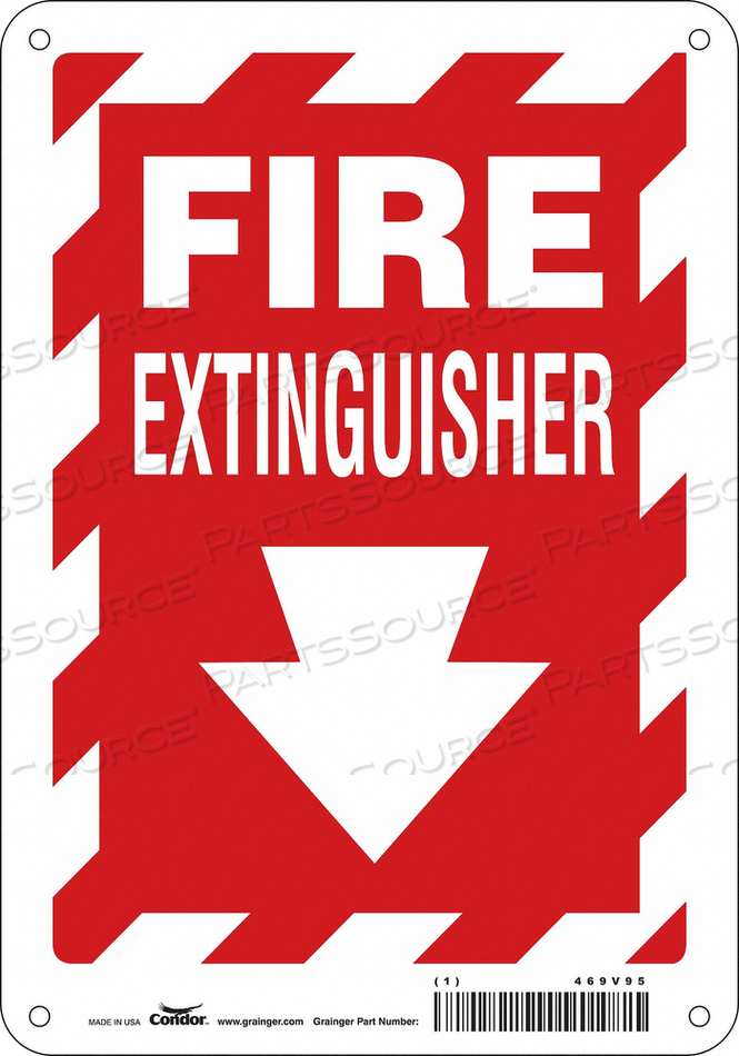 J7049 SAFETY SIGN 7 W 10 H 0.032 THICKNESS by Condor