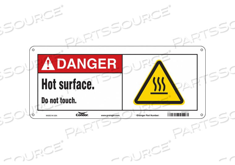 DANGER SIGN 17 W X 7 H 0.032 THICK by Condor