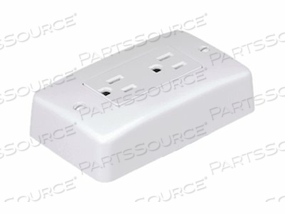 PANDUIT PAN-WAY - ELECTRICAL OUTLET BOX - SURFACE MOUNTABLE - ELECTRIC IVORY - 1-GANG - WITH 20 A U.S. STYLE RECTANGULAR ELECTRICAL OUTLET by Panduit