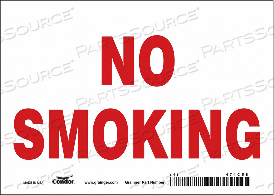 J7012 SAFETY SIGN 7 W 5 H 0.004 THICKNESS by Condor