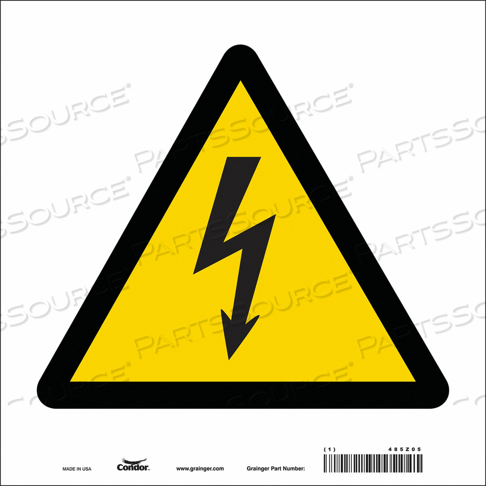 ELECTRICAL SIGN 10 W 10 H 0.004 THICK by Condor