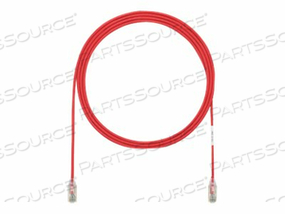PANDUIT TX6-28 CATEGORY 6 PERFORMANCE - PATCH CABLE - RJ-45 (M) TO RJ-45 (M) - 7.9 IN - UTP - CAT 6 - IEEE 802.3AF/IEEE 802.3AT - BOOTED, HALOGEN-FREE, SNAGLESS, STRANDED - RED - (QTY PER PACK: 48) by Panduit