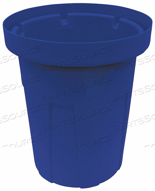 TRASH CAN 35 GAL. BLUE by Tough Guy