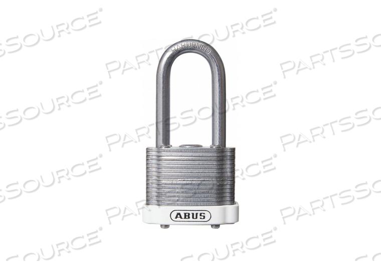 D8955 LOCKOUT PADLOCK KD MK WHITE 1-3/8 H by Abus