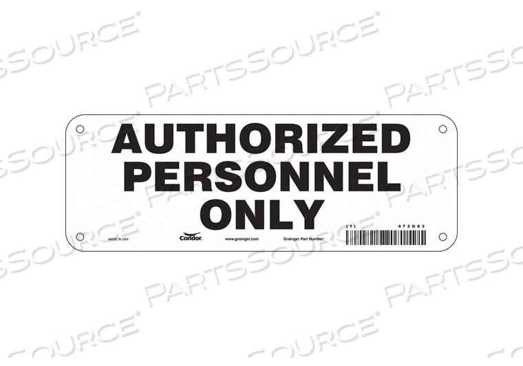SAFETY SIGN 10 W 3 H 0.055 THICKNESS by Condor