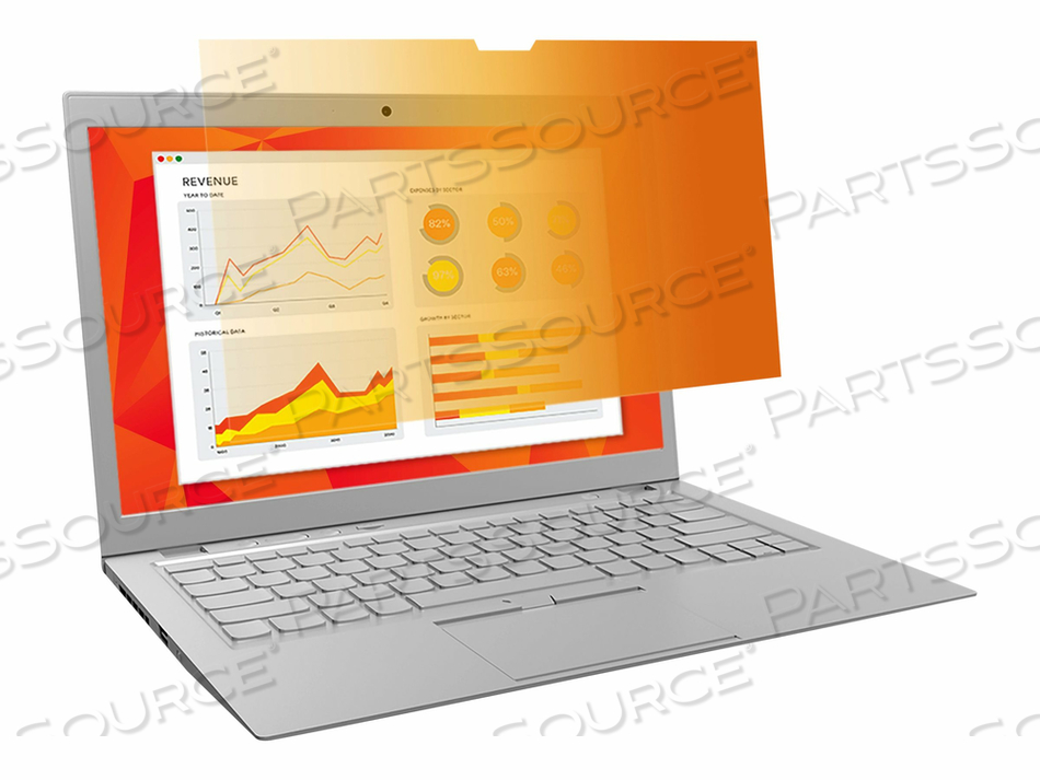 "3M GOLD PRIVACY FILTER FOR 13.3"" WIDESCREEN LAPTOP - NOTEBOOK PRIVACY FILTER - 13.3"" - GOLD by 3M Consumer"