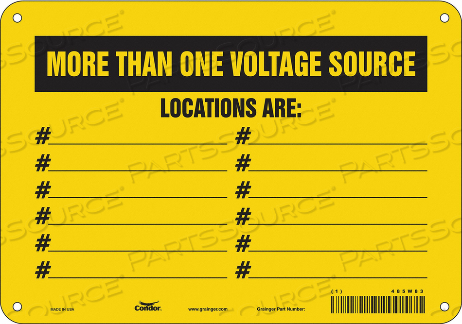 LOCKOUT SIGN 10 W 7 H 0.055 THICKNESS by Condor