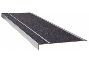 STAIR TREAD BLACK 60IN W EXTRUDED ALUM by Wooster