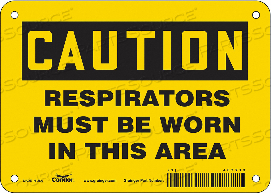 J6968 SAFETY SIGN 7 W 5 H 0.004 THICKNESS by Condor