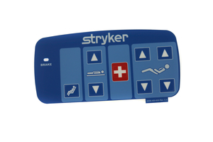 OUTER LEFT HAND NURSE CONTROL, CARDIAC CHAIR LABEL, BLUE W/GATCH/FOWLER by Stryker Medical