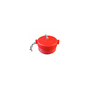 FIRE HOSE RED HOSE PLUG - 2-1/2 IN. NH - PLASTIC by Moon American