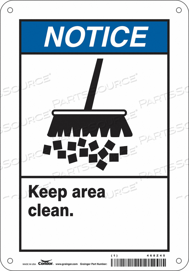 SAFETY SIGN 7 10 0.06 THICKNESS by Condor