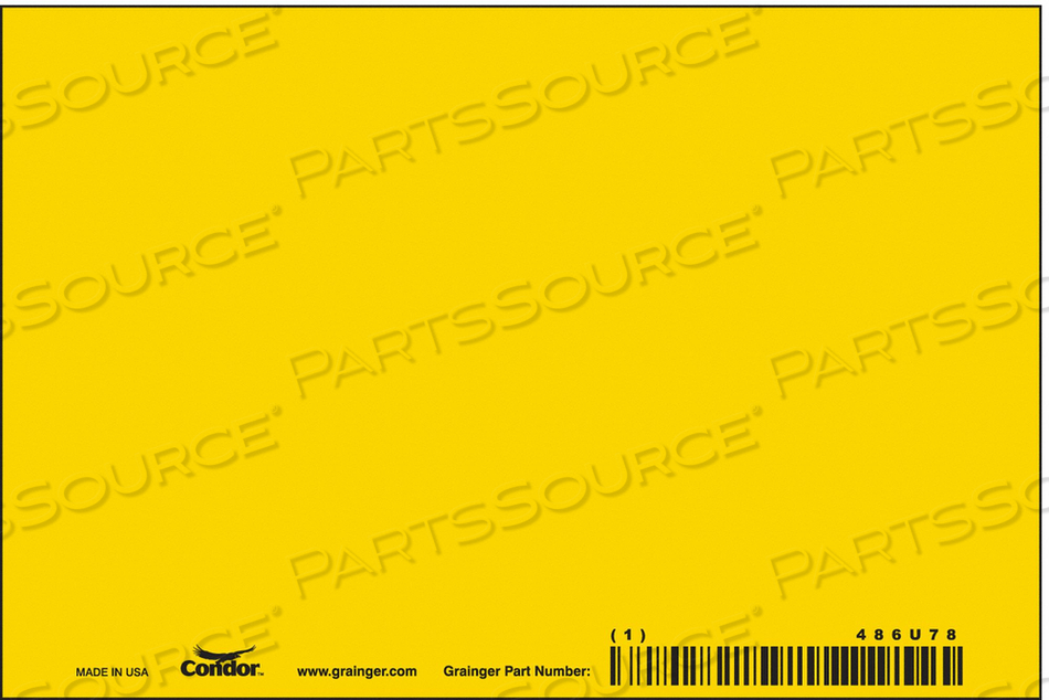 SAFETY SIGN 6 W 4 H 0.550 THICK PK10 by Condor