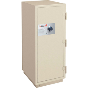 2 HR FIRE RESISTANT SAFE 25-1/2 X 28-7/8 X 49-7/8 ELECTRONIC & KEY LOCK TAUPE by Fire King
