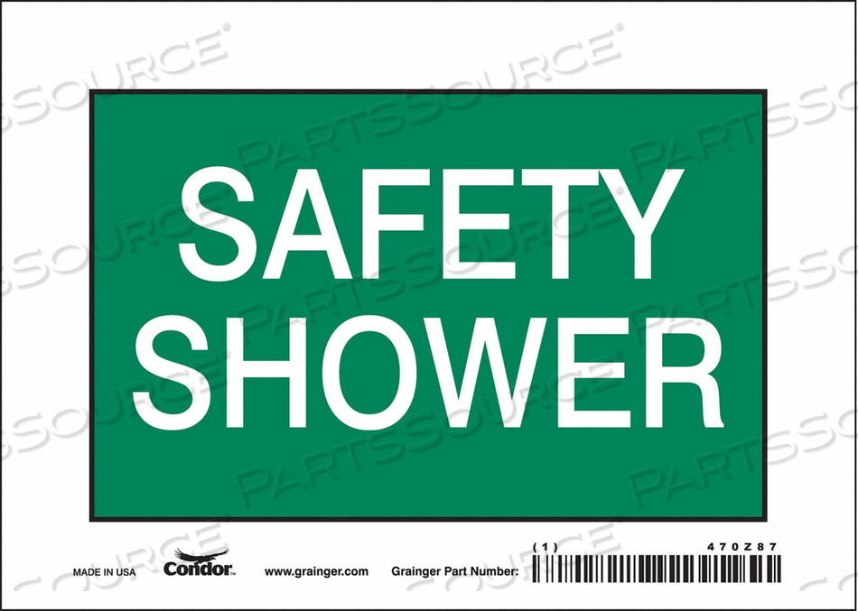 J7004 SAFETY SIGN 7 W X 5 H 0.004 THICK by Condor