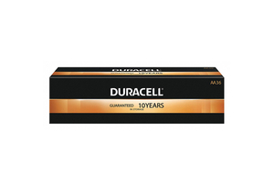 BATTERY, AA, ALKALINE, 1.5V, 2900 MAH (PACK OF 36) by Duracell