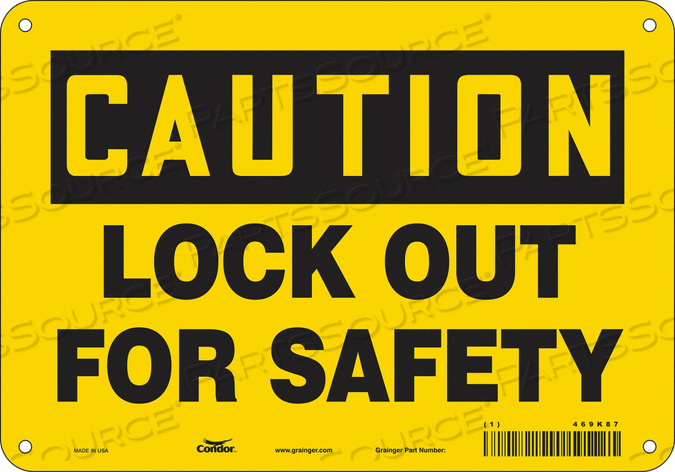 K0106 SAFETY SIGN 10 W 7 H 0.055 THICKNESS by Condor