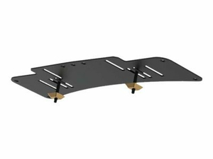 """PEERLESS FLAT PANEL TV BASE STAND LOCK-DOWN PLATE HLG440-LG - MOUNTING KIT ( FASTENERS, BASE PLATE ) FOR LCD TV - STEEL, FUSED EPOXY - BLACK - SCREEN SIZE: 32"""" - 42"""" - DESKTOP STAND by Peerless Industries, Inc."""