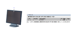 """19"""" DSC 1908-D COLOR MONITOR by Siemens Medical Solutions"""