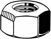 FABORY U51411.031.0002 Lock Nut,5//16-24,Gr 18-8,SS,Plain,PK50