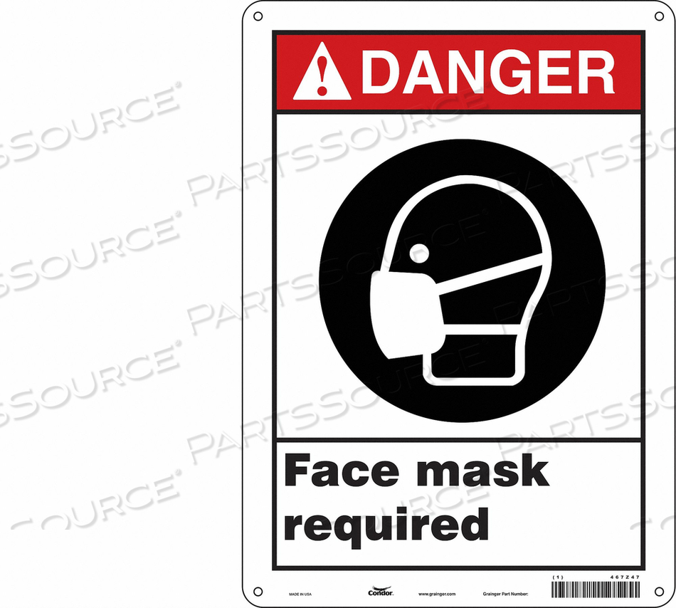 SAFETY SIGN 10 W 14 H 0.010 THICKNESS by Condor