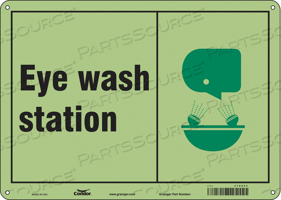 SAFETY SIGN 14 W X 10 H 0.040 THICK by Condor