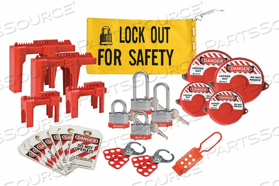 PORTABLE LOCKOUT KIT BLUE 9-3/4 H by Condor