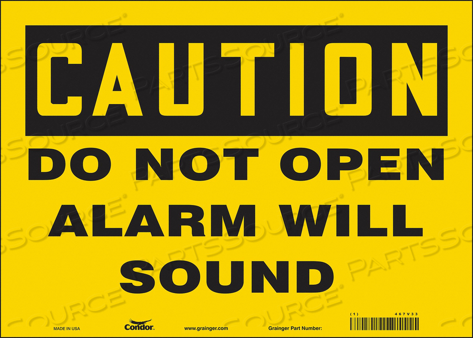 SAFETY SIGN 10 X14 VINYL by Condor