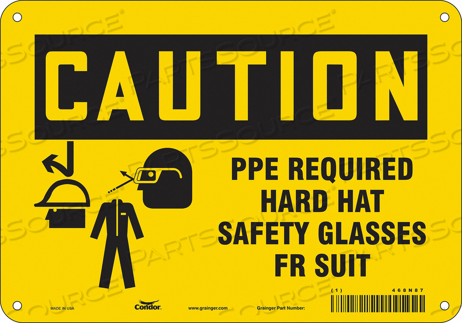 SAFETY SIGN 10 WX7 H 0.032 THICKNESS by Condor