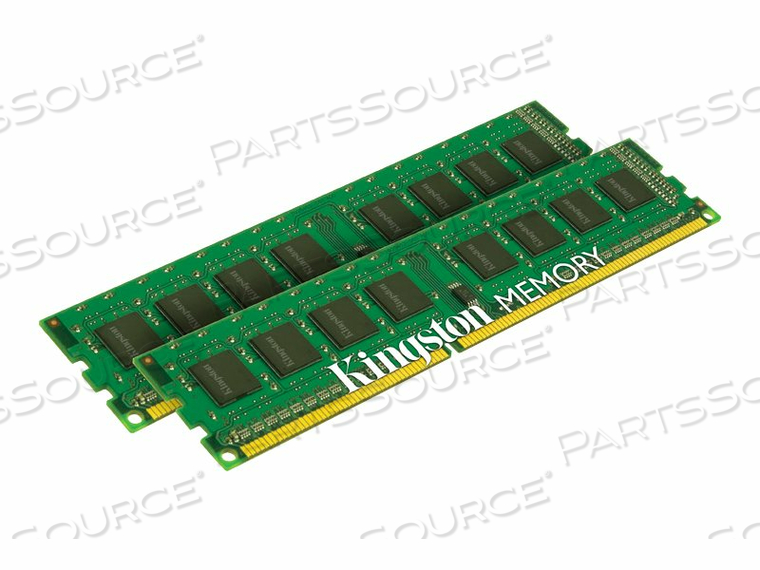 KINGSTON VALUERAM - DDR3 - 8 GB : 2 X 4 GB - DIMM 240-PIN - 1600 MHZ / PC3-12800 - CL11 - 1.5 V - UNBUFFERED - NON-ECC by Kingston Technology