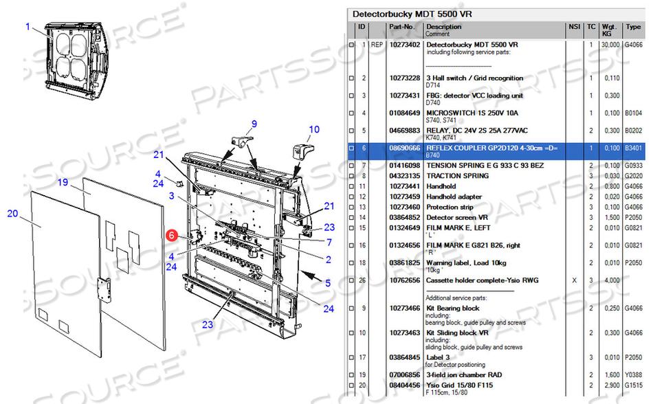 GP2D120 4-30CM REFLEX COUPLER by Siemens Medical Solutions