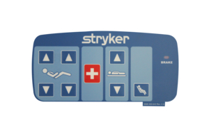 OUTER RIGHT NURSE CONTROL LABEL BLUE W/GATCH/FOWLER, DMS by Stryker Medical