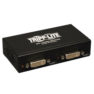 2-PORT DVI SINGLE LINK VIDEO / AUDIO SPLITTER / BOOSTER TAA GSA by Tripp Lite