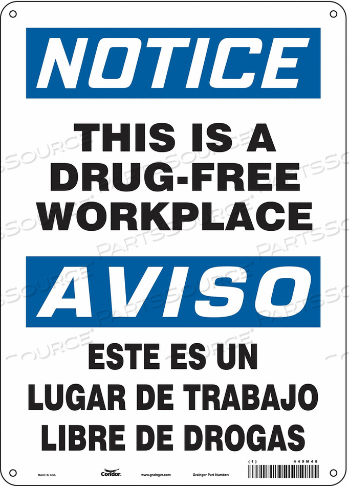 SAFETY SIGN 14 H X 10 W 0.004 THICK by Condor