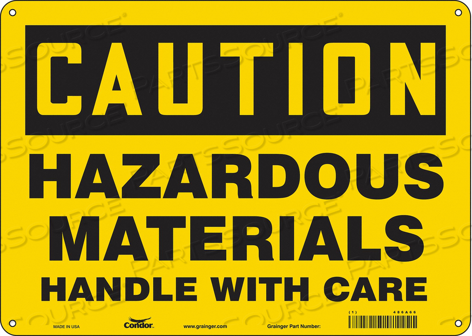 CHEMICAL SIGN 14 W 10 H 0.055 THICKNESS by Condor