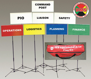 INCIDENT COMMAND FLAG KIT 8 FLAGS by Disaster Management Systems (DMS)