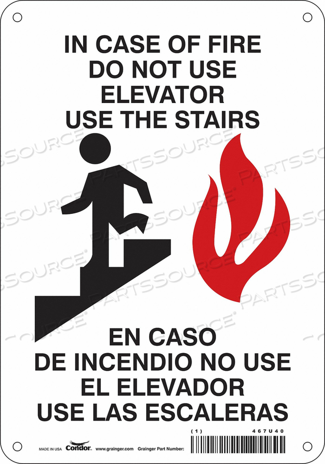 SAFETY SIGN 10 X7 PLASTIC by Condor