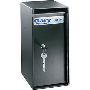 "GARY TRIM SAFE 6""W X 7""D X 12""H - KEYED LOCK - 0.2 CU. FT. BLACK by Fire King"