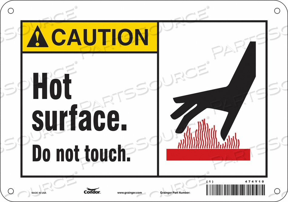 DANGER SIGN 10 W X 7 H 0.060 THICK by Condor
