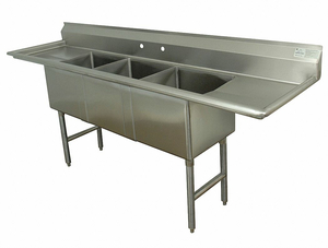 SCULLERY SINK WITHOUT FAUCET 120 IN L by Advance Tabco